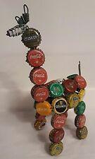 African Folk Art Bottle Cap Giraffe Kenya Handmade Coca-Cola Guinness Tusker