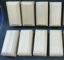 """Wooden Quilt Hangers Blocks x 8 June Tailor Stain or Paint Marble Catch 3.5"""""""