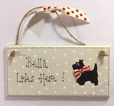 Dipinta a mano personalizzato Dog Puppy Porta Muro Placca Firmare-Regalo con il tuo nome