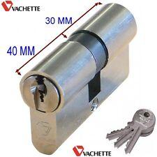 VACHETTE,Cylindre Sécurité,Sureté,,3 Clés,,30-40 mm,Canon,Barillet,Verrou,,70 mm