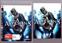 LIKE NEW Assassins Creed W MANUAL Playstation 3 PS3 Game