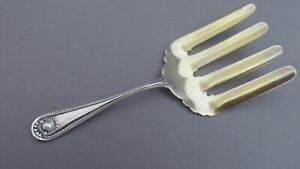 WHITING  BEAD STERLING SILVER ASPARAGUS FORK