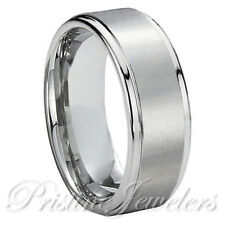 Titanium Silver Men Brushed Comfort Fit Engagement Wedding Band Promise Ring NEW