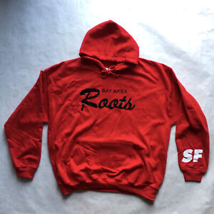 San Francisco 49ers Bay Area Roots Pullover Red White Gold Hoodie Brand New (XL)
