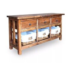 Rustic Console Table Large Hallway Furniture Industrial Style Vintage Sideboard