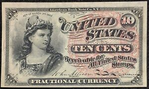 1863 4th Issue 10C Fractional Currency Fr.#1257