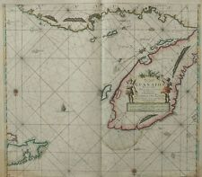 Map 1687 Van Keulen Map of the Yucatan Peninsula, Belize and Honduras