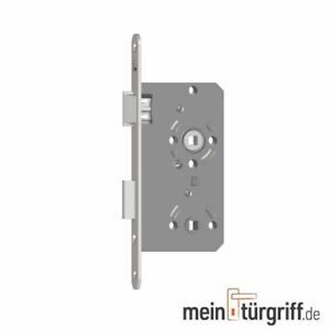 SAG Bad Schloss WC Einsteckschloss DIN Rechts-Links, Falle & Riegel=Kunststoff