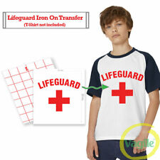 IRON ON TRANSFER / STICKER - Lifeguard Stag Do - T-SHIRT TRANSFER 12.5 x 9 In.