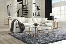 COMFY 3 PC OFF WHITE LINEN-LIKE MODULAR SOFA SECTIONAL LIVING ROOM FURNITURE SET
