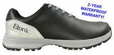 "New Etonic- Stabilizerâ""¢ Golf Shoes Black/Silver Size 11 Wide Eg800Bs"