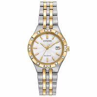 Citizen Eco-Drive Women's EW2334-51A Diamond Accent Two-Tone Bracelet 27mm Watch
