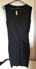 Ann Taylor Loft Crossover Knit Dress Black Size Small A4
