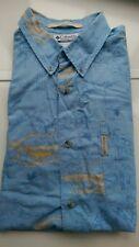 Columbia 100% Cotton Men's Short Sleeve Shirt Size L-XL