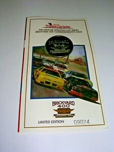 Limited Edition Commemorative Coin from the Inaugural NASCAR Brickyard 400 Race