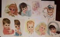 Lot 9 Vintage Northern Bath Tissue American Beauty Girl Boy Prints Frances Hook