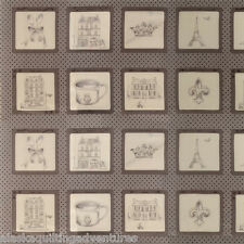 "Moda FABRIC Quilt Panel ~ OOH LA LA ~  by Bunny Hill Designs  24""X 45"" - Grey"
