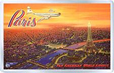 PARIS PAN AMERICAN VINTAGE FRIDGE MAGNET