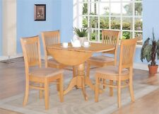 5pc Dublin Dinette table + 4 Vancouver chairs microfiber upholstered seat in oak
