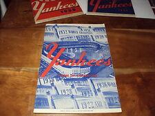 1953 NY Yankees Athletics Program Score Card EXMT+ Raschi WIN, Bauer HR, Mantle