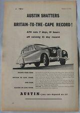 1950 Austin shatters record! Original advert