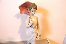 Lladro 7617 GARDEN CLASSIC Figurine - Lady holding Parasol with Dog in Box