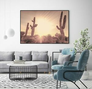 Cactus, Sunset, Desert, Poster Print - A1, A2, A3, A4 on 200gsm satin paper