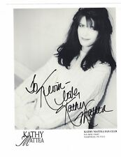 """Kathy Mattea Country Singer Signed 8"""" x 10"""" Fan Club Photo W/Our COA To Kevin"""