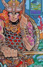 CELTIC IRISH FANTASY ART PRINT NUADA THE WARRIOR KING 23x16 By Jim FitzPatrick