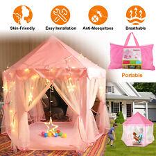 Pink Kids Play Tent Girls Princess Castle Children Playhouse Indoor Outdoor Toys