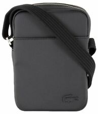 Lacoste Mens Classic Petit Pique Vertical Zip Bag - Black