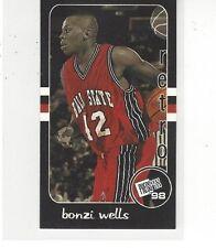 1998 PRESS PASS DOUBLE THREAT BASKETBALL RETROS BONZI WELLS #RT9 - BALL STATE