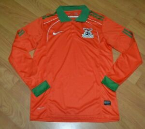 Zambia National Football Soccer Long Sleeve Jersey Nike Youth XL Chipolopolo