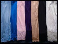 Gorgeous Colors Vintage Nylon Half Slips Lot Lace Chiffon Bows Satin ~ M/L