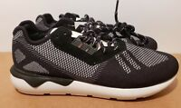 Size 10.5 ADIDAS TUBULAR RUNNER WEAVE CORE BLACK RUNNING white NEW nmd boost air