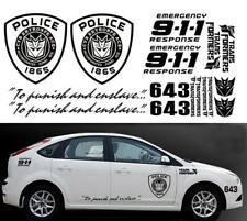 Transformers Sticker SET XXL Auto Aufkleber Car 16-teilig Decepticon Police