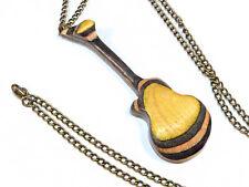 Riciclato Skateboard in legno fatto a mano chitarra collana gioielli COOL Insolito Regalo