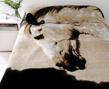 Dapple Horse Mink Blanket by Just Home | Quality Plush Mink  Blanket | Queen