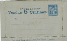 France 1887 15c Sage advertising letter card unused with upside down contents