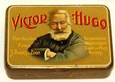 French Victor Hugo Writer Politician Cigar Pocket Tobacco Tin 1920s