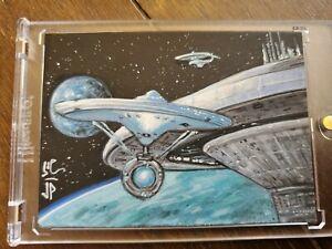 Star Trek Artist Sketch Card By Jason Potratz & Jack Hai Earth Base 1/1