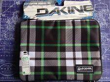 Dakine Fremont Ipad Tablet Sleeve Zip Green Black Check BNWT RRP£18