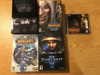 Vintage Big Box Blizzard Lot PC CD-ROM World Warcraft Starcraft II III DVD Movie