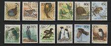 Nueva Zelanda 1988 Native aves DEFINITIVES SG1459A1468 conjunto de 12 Sellos Usados Fino