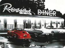 TARGHETTA in Lamiera 201/565 - Rosie's Diner - 8 x 11 CM-NUOVO