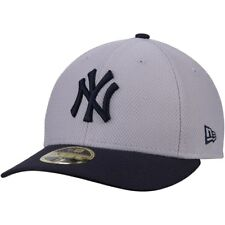 NEW YORK YANKEES NEW ERA 59Fifty Diamond Era Low Profile Fitted Hat Gray 7 3/8