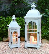 Wood / Metal LANTERN Set of 2 Home Decor Holiday Gifts Transpac Home and Garden