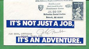 Firmado Cubierta John Grubb Detroit Tigers 1984 Jardinero - B0777