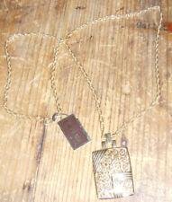 NOS vintage Kramer necklace pendant ornate scrolls romantic jewelry chic square