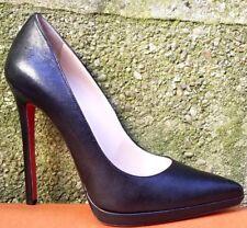 CHRISTIAN LOUBOUTIN Pigalle Plato 130 Black Leather Heels Pump 39/ us 8